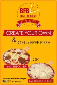 BFB Create your pizza and get one for free