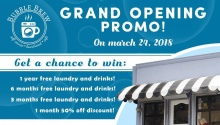 BubbleBrew Laundromat Cafe Opening Promo and Free Load Wash FI