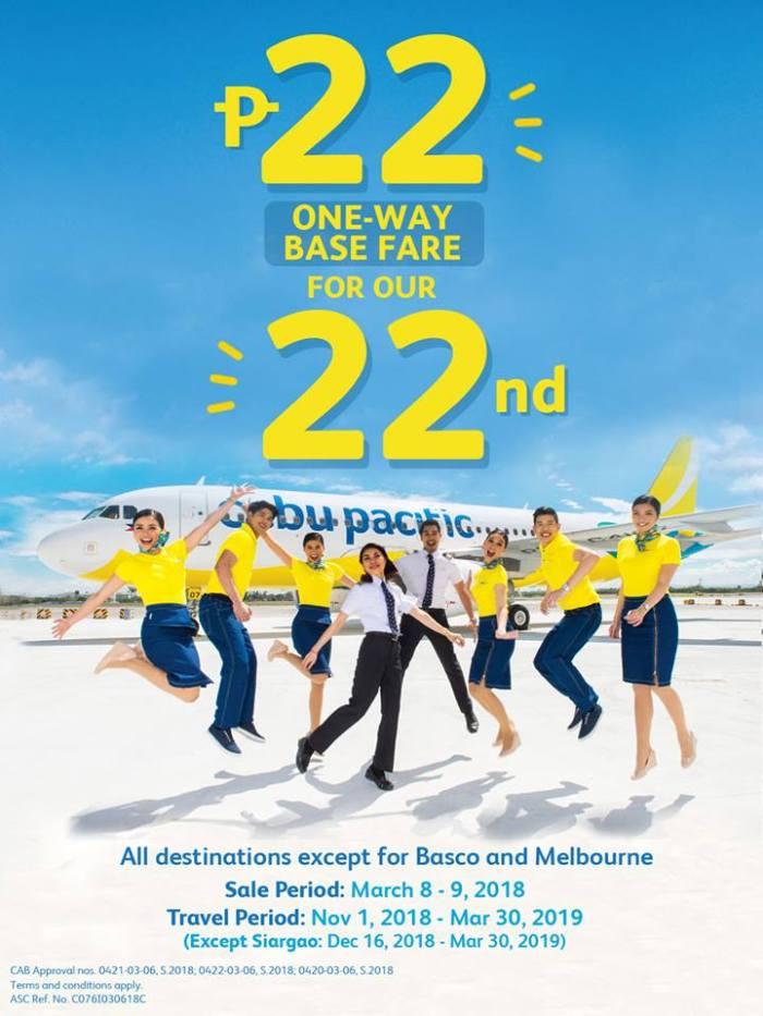 Cebu Pacific 22nd Anniversary