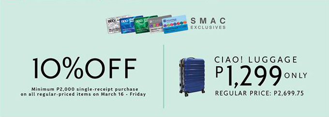ciai luggage and 10percent off