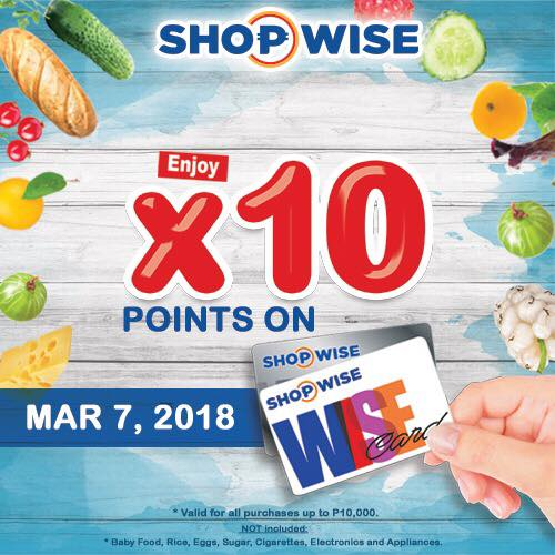 grab shopwise first wed march 7