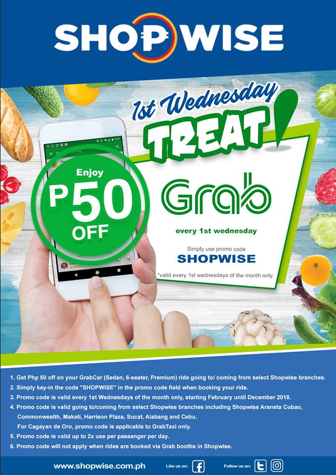 grab shopwise first wed