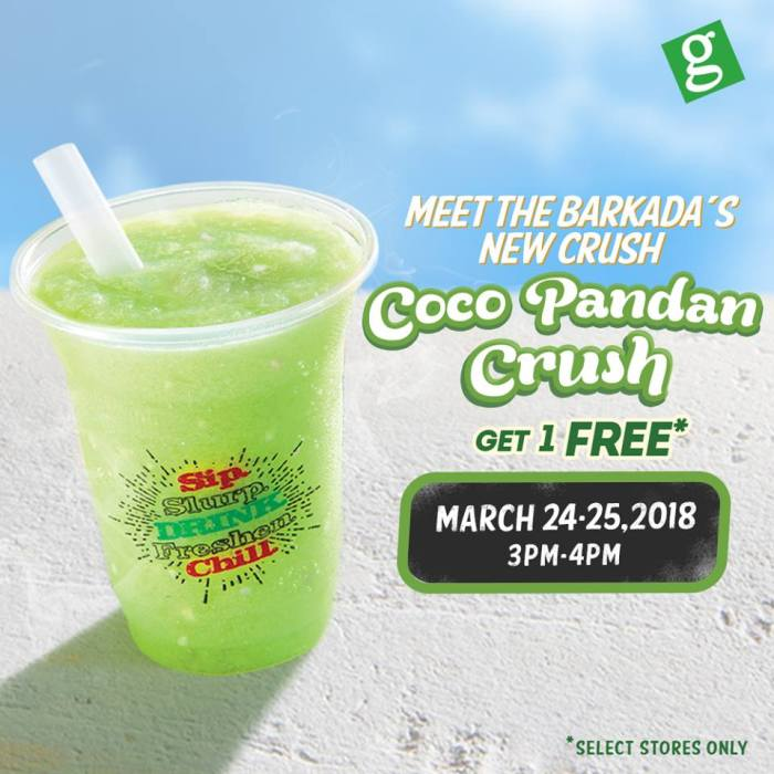 greenwich coco pandan crush