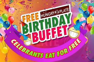 The Hungry Plate Free Birthday Buffet