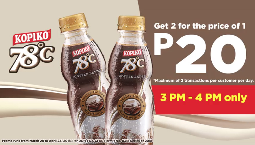 get 2 kopiko 78 for price of 1