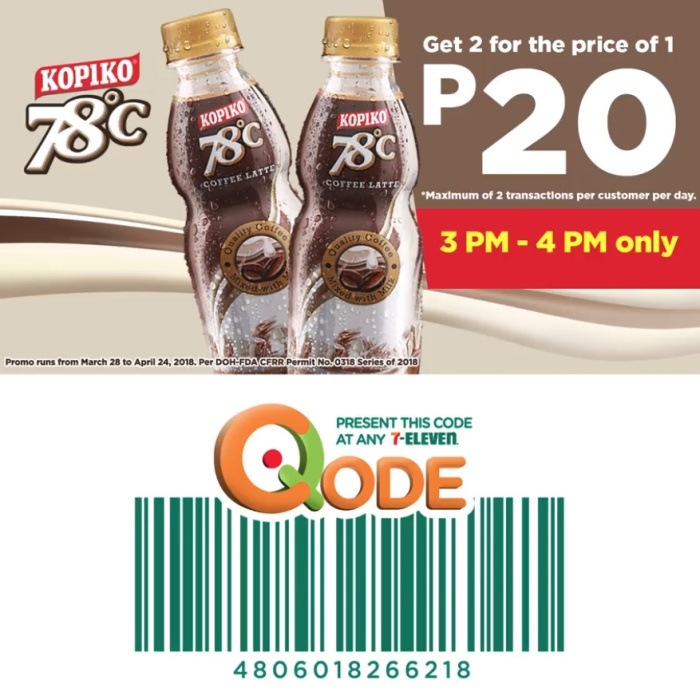 kopiko 78 get 2 for price of 1 SQ
