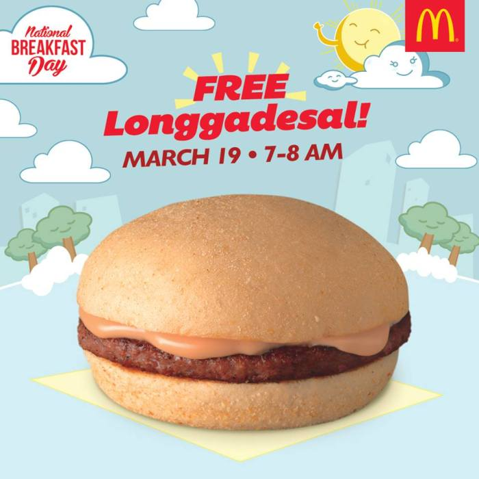 McDo Free Longgadesal