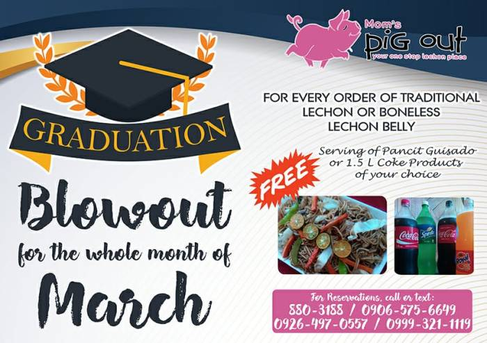 Mom's Pig Out Graduation Blowout