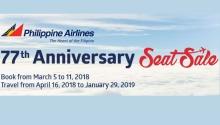 PAL 77th anniversary seat sale FI
