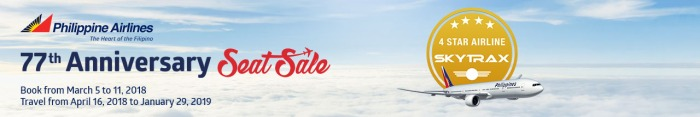 PAL 77th anniversary seat sale
