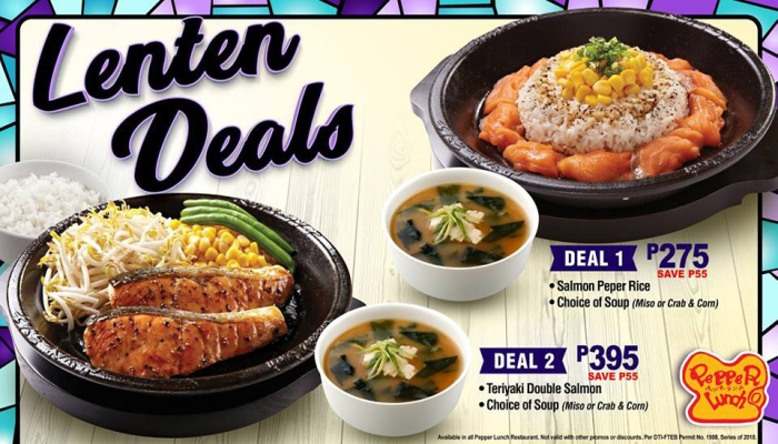 pepper lunch lenten deals