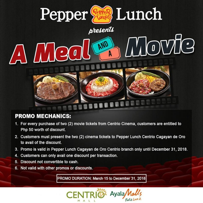 Pepper Lunch A Meal and a Movie