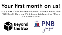 PNB and Beyond the Box First Month on Us FI