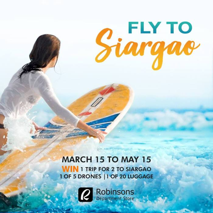 Robinsons Department Store Fly to Siargao