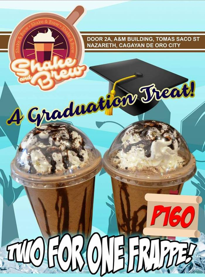 shake and brew graduation treat