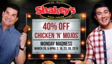 Shakey's Chicken and Mojos Monday Madness 40 percent off