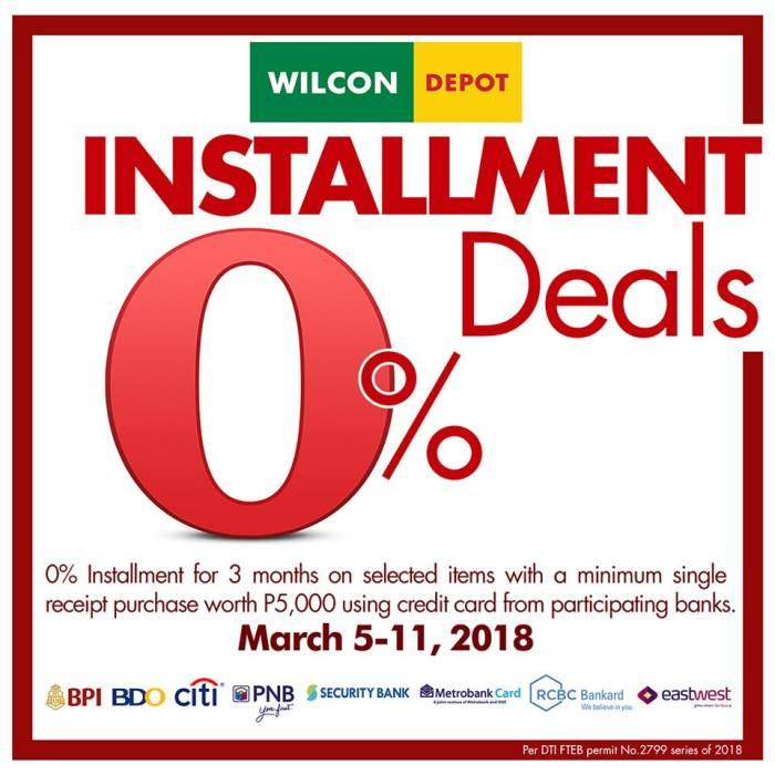 Wilcon Depot Installment Deals