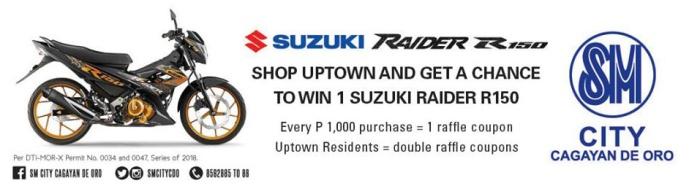 win a suzuki raider R150