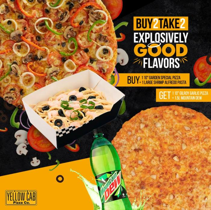 Yellow Cab Buy 2 Take 2 Explosively Good Flavors