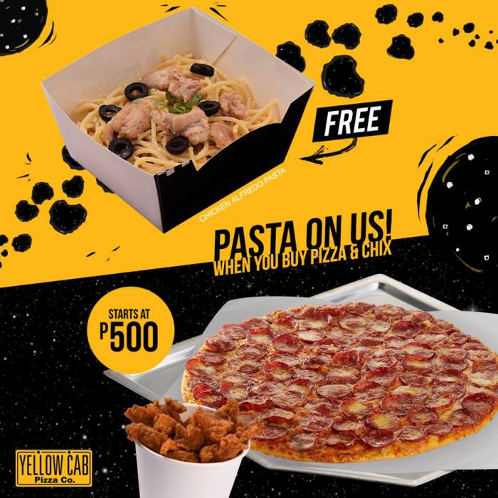 yellowCab Pasta on Us