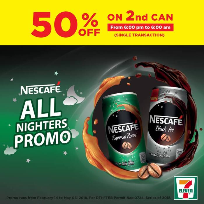 Seven Eleven Nescafe All Nighters Promo