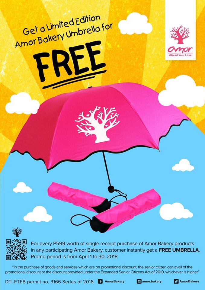 Amor Bakery Free Umbrella