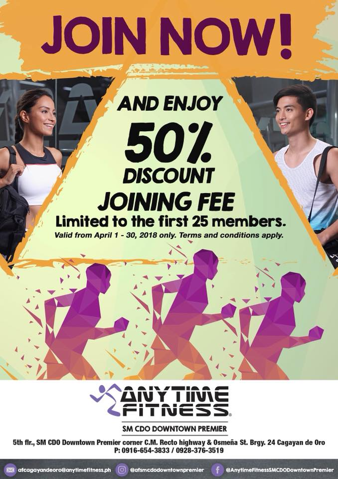 Anytime Fitness 50 percent Discount