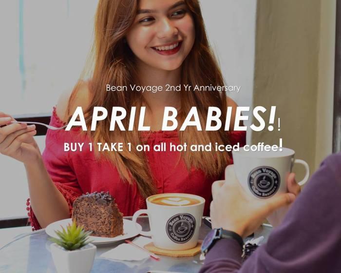 Bean Voyage Coffee Co April Birthday Celebrants Treat