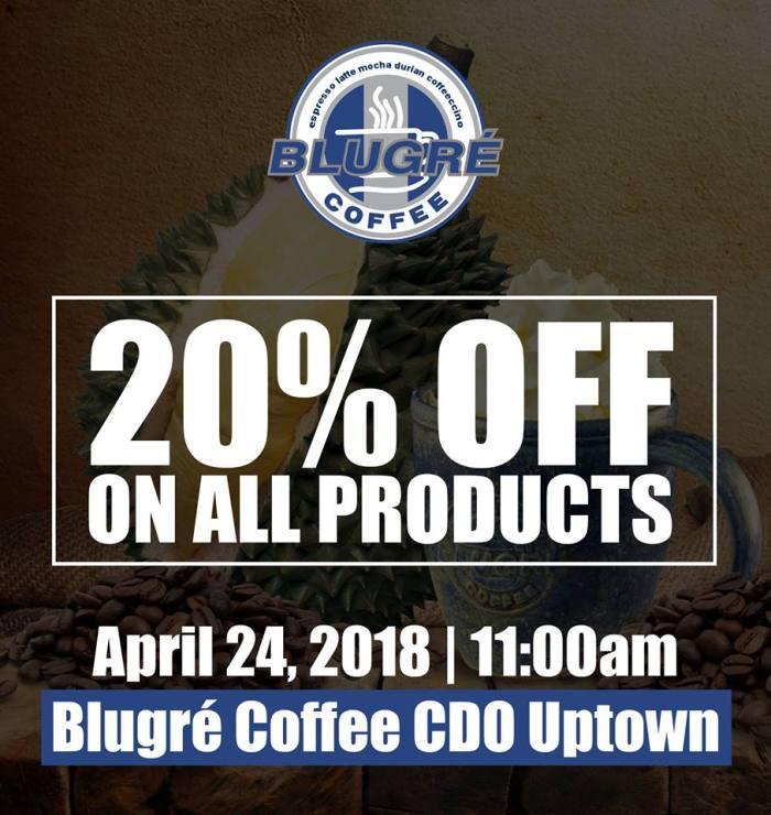 blugre coffee CDO opening promo