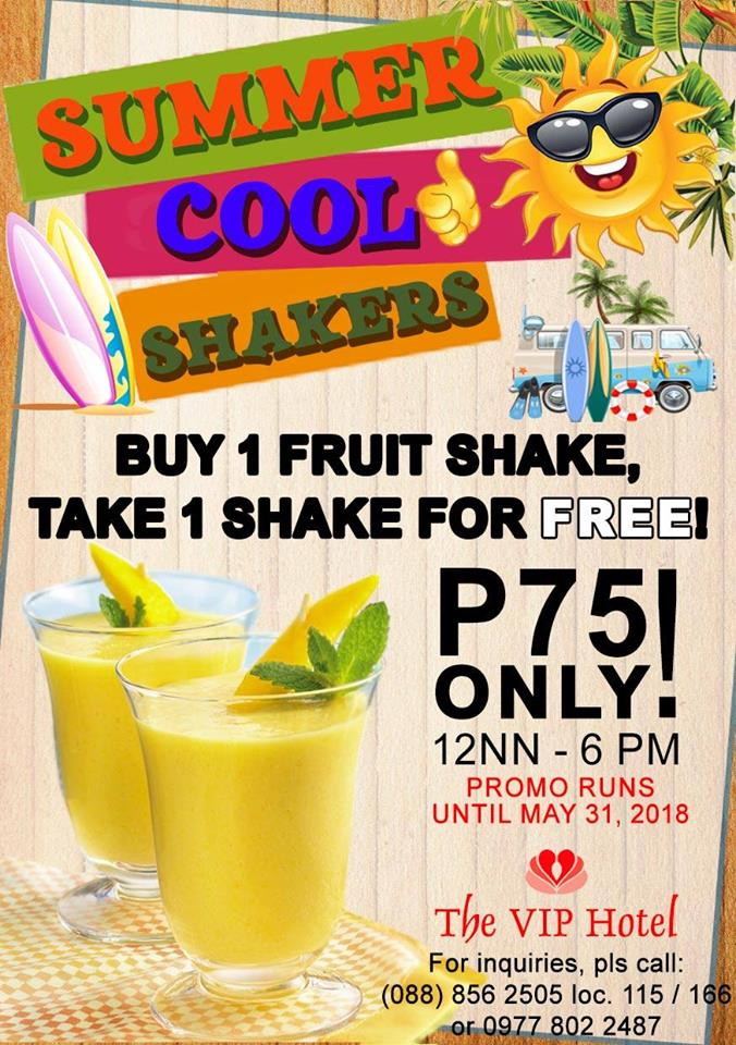 VIP Hotel Buy 1 Take 1 Summer Cool Shakers