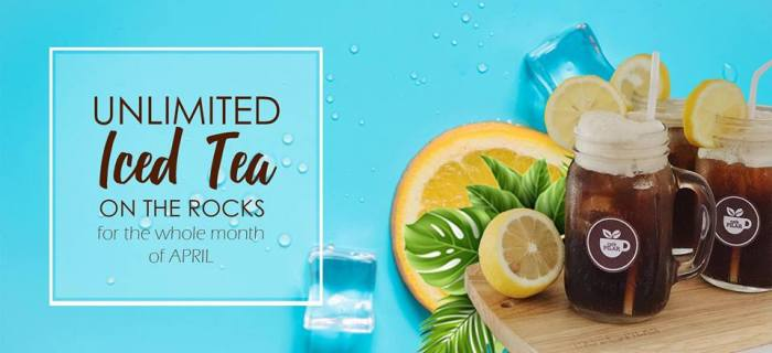 Cafe Pilar Unlimited Iced Tea