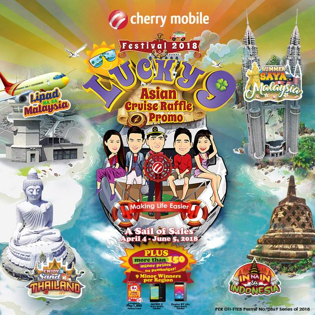 Cherry Mobile Festival 2018 Lucky 9 Asian Cruise Raffle Promo sq