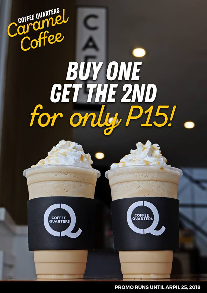 Coffee Quarters Caramel Coffee Promo