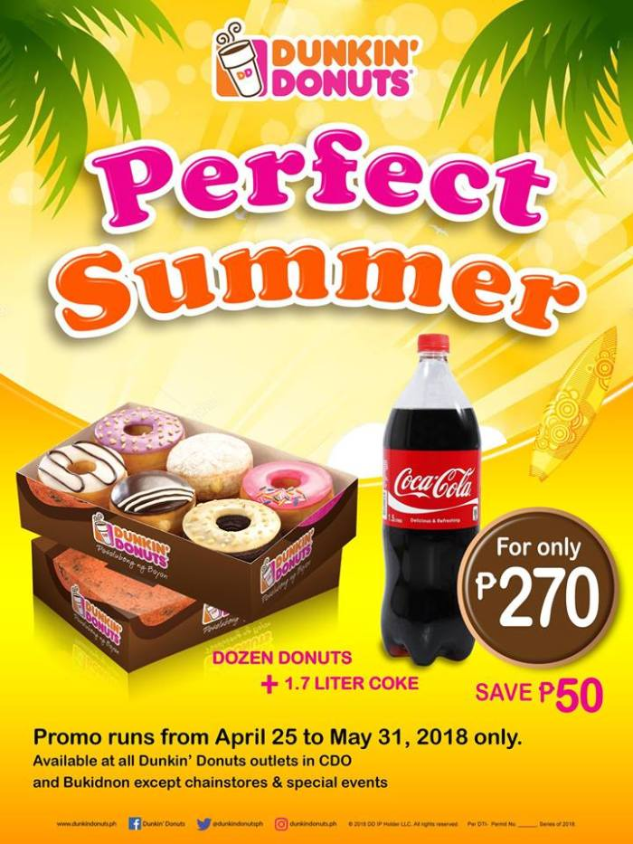 Dunkin Donuts perfect summer