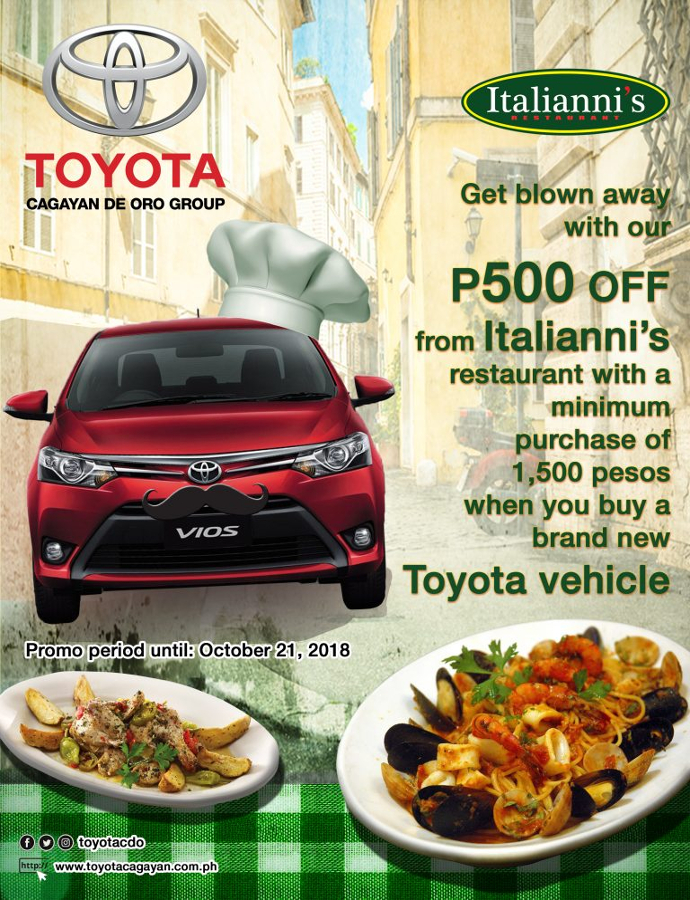 Italiannis Toyota partnership promo