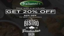 Italliani's Bistro Graduation Promo FI