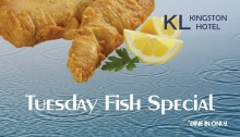 Kingston Hotel Tuesday Fish Special FI