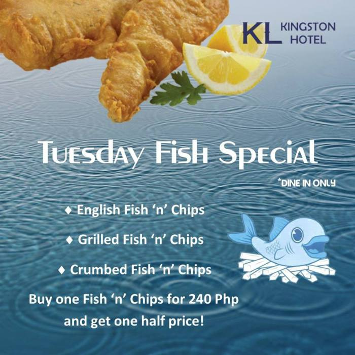Kingston Hotel Tuesday Fish Special