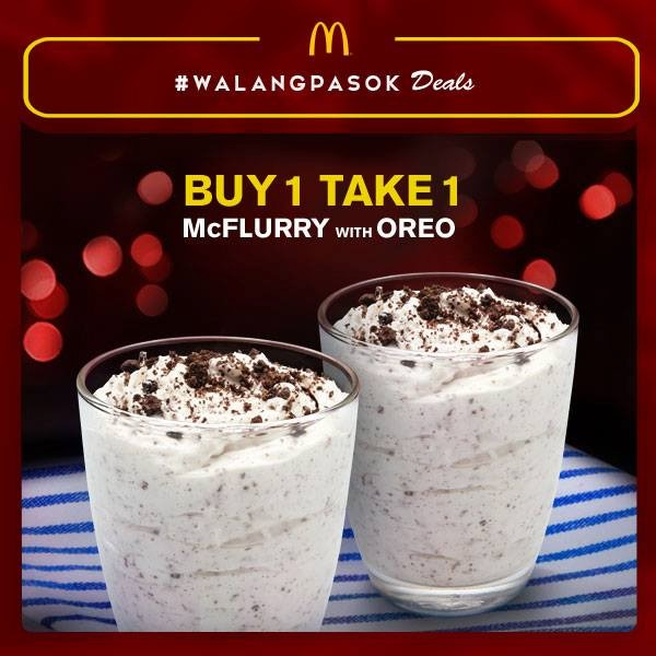 McDonald's Buy 1 Take 1 McFlurry with Oreo