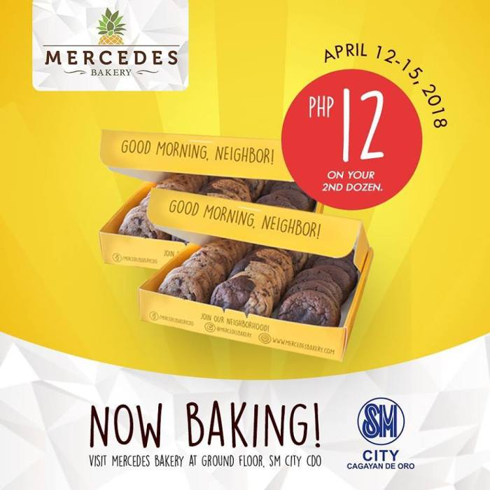 Mercedes Bakery SM Uptown Promo