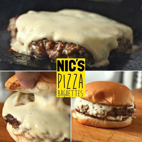Nics Garlic CheeseBurger at 50percent off for 1st 20 customers sq
