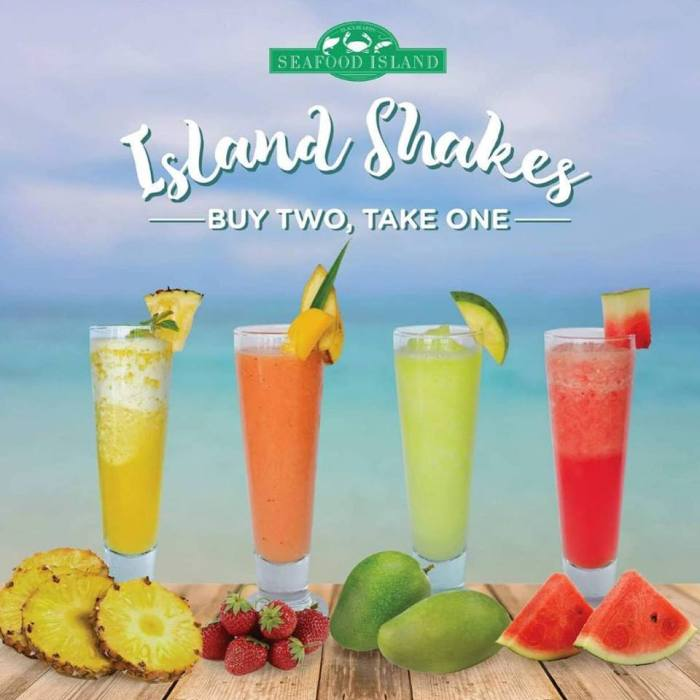 Seafood Island shakes buy 2 take 1