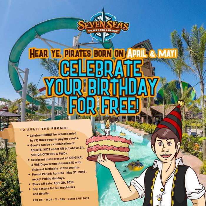 Seven Seas April and May Birthday Promo