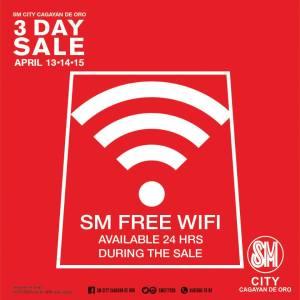 SM 3 day sale free wifi