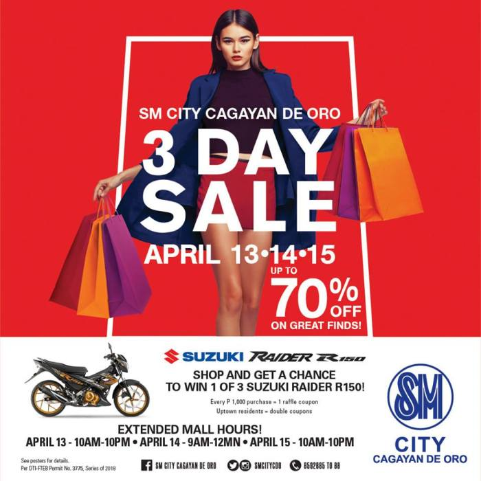SM City CDO 3 day sale