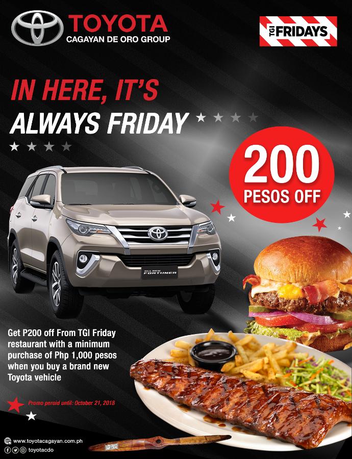 TGIF Toyota partnership promo