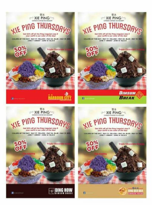 Xie Ping Thursdays 4 Stores