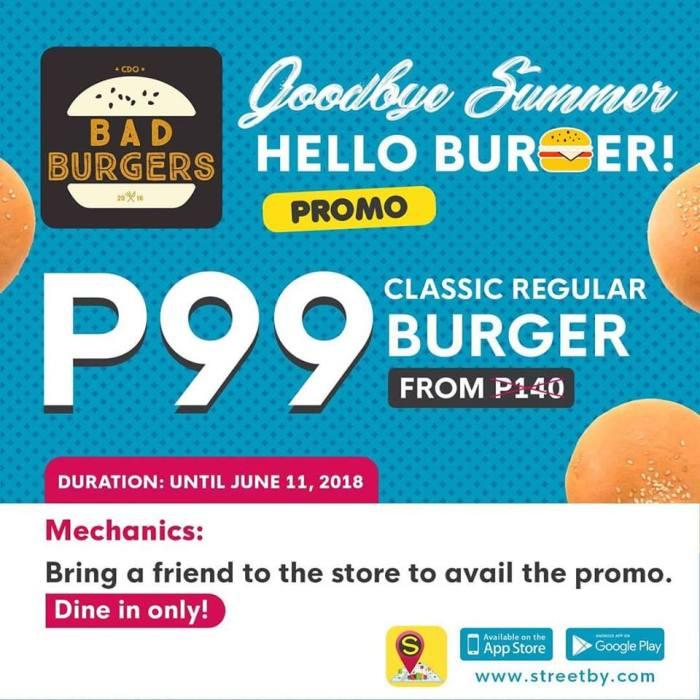Bad Burgers Goodbye Summer Hello Burger