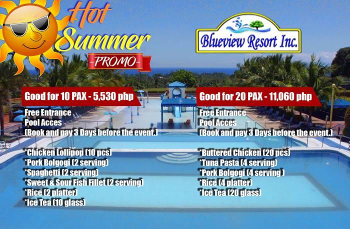 BlueViewResortInc hot summer promo 10-20pax