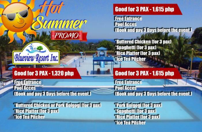 BlueViewResortInc hot summer promo 3pax